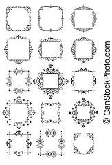 Retro-Rahmen (schwarz und weiß)