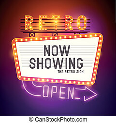 Retro Showtime Zeichenvektor
