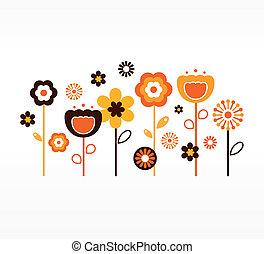 Retro-Springblumensammlung ( orange und braun)
