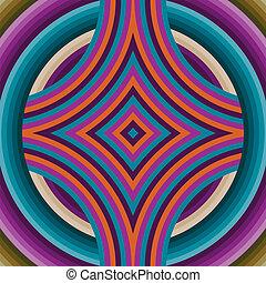 Retro Tapeten abstraktes, nahtloses Muster