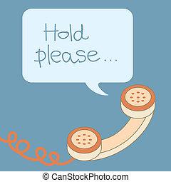 Retro Telefon Griff mit Blase Nachricht.