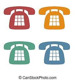 Retro-Telefon-Ikonen