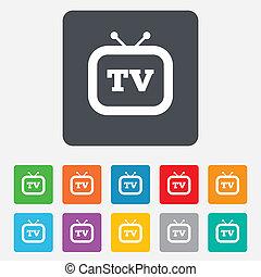 Retro TV-Symbol. Fernsehzeichen.