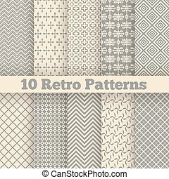 Retro verschiedene nahtlose Muster. Vector Illustration