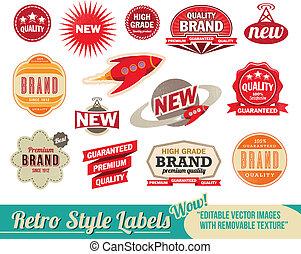 Retrolabel und Etiketten
