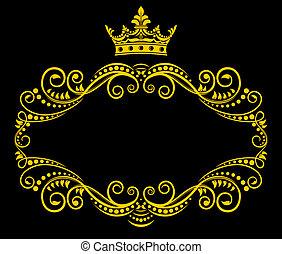 Retrorahmen mit königlicher Krone
