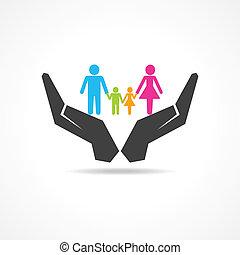 retten, oder, unter, familie, hand, sicher