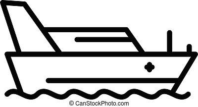 rettungsboot, grobdarstellung, ikone, stil