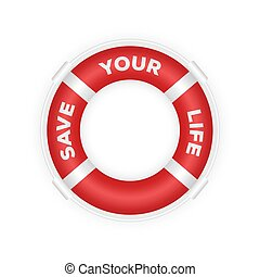rettungsboot, marine, abbildung, rettung, 3d, lifebuoy., realistisch
