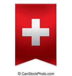 Ribbon Banner - Schweizer Flagge
