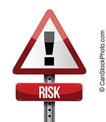 Risk Warnzeichen Illustration Design.
