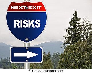 Riskiert Straßenzeichen