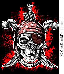roger, symbol, pirat, lustig
