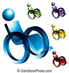 Rollstuhl-Ikonen