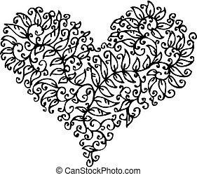 Romantische Herz-Vignette CXXXV