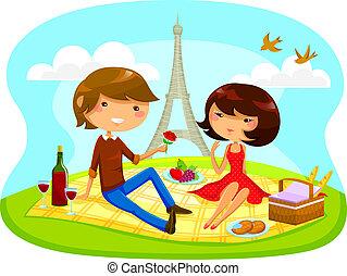 Romantisches Picknick.