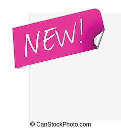 Rosa Label für ein neues Produkt