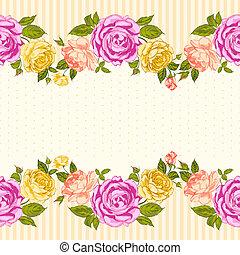 Rose Frame Einladungskarte.