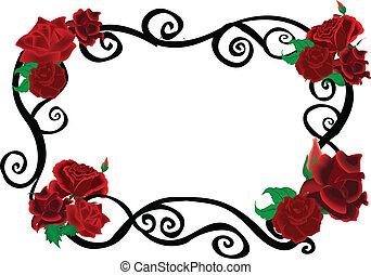 Rosen verwirren elegante Rahmen.