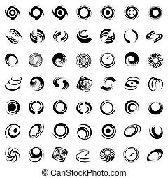 rotation., bewegung, spirale