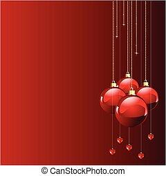 Rote Farben Weihnachten