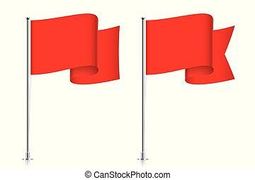 Rote Flaggenvorlagen.