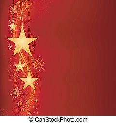 Rote goldene Weihnachtsgeschichte