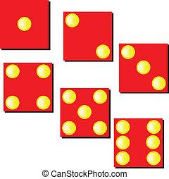 Rote Würfel illustrieren