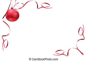 Rote Weihnachtsbirne