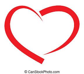 Roter Herzvektor.
