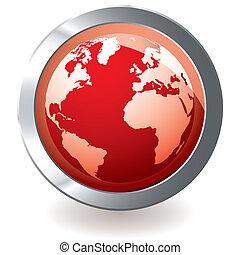 Roter Ikon-Erdball
