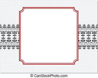 Roter Ornaterahmen