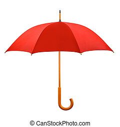Roter Regenschirm geöffnet