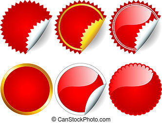 Roter Sticker