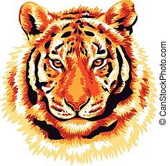 Roter Tiger.