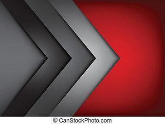 Roter Vektor Hintergrund überlappen die Dimension.