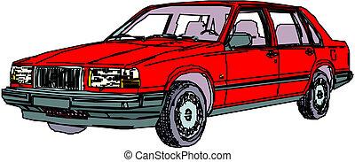 Rotes Auto.