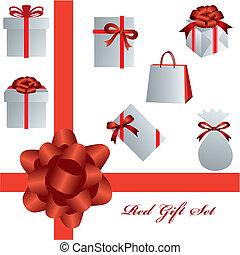 Rotes Geschenkset