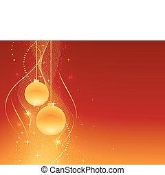 Rotes, goldenes Weihnachtsleben