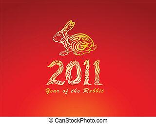 Rotes Jahr des Kaninchens