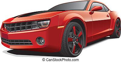 Rotes Muskelauto