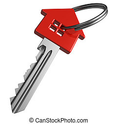 rotes , schlüssel, house-shape