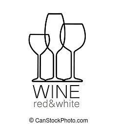 Rotes, weißes Vorlagenlogo.