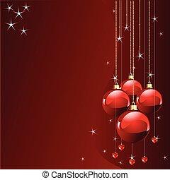Rotfarbene Weihnachtskarte