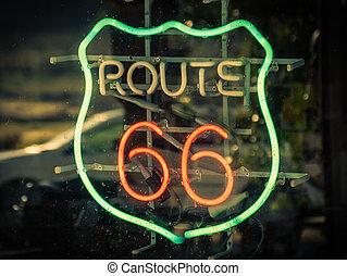 Route 66 Zeichen.
