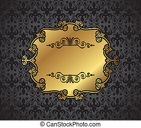 Royal Gold Picture Bild Bild auf dunkel