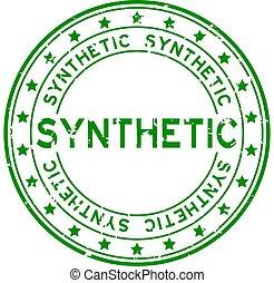 runder , grunge, hintergrund, gummi, wort, grün weiß, siegel, synthetisch, briefmarke