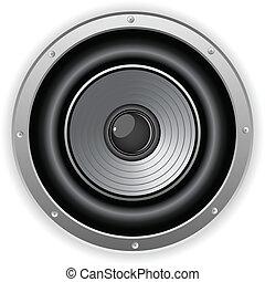 Runder, isolierter Lautsprecher