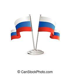 Russische Vektortafelflagge.