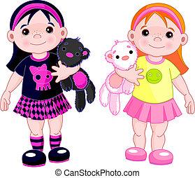 Süße kleine Mädchen